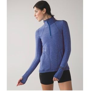 Lululemon |1/2 Zip Reflective Pullover Pace Pusher